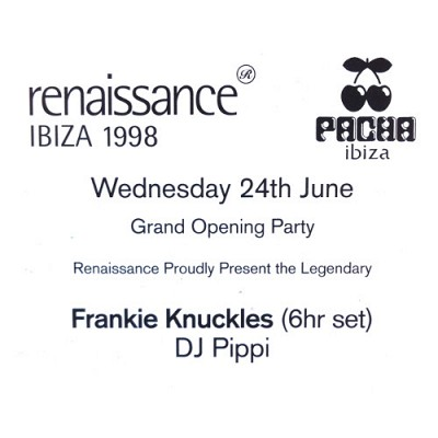 DJ Pippi Frankie Knuckles @ Pacha Memorial Evening